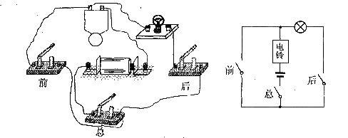 如图,是某校传达室中的电路元件,请按要求完成电路的.