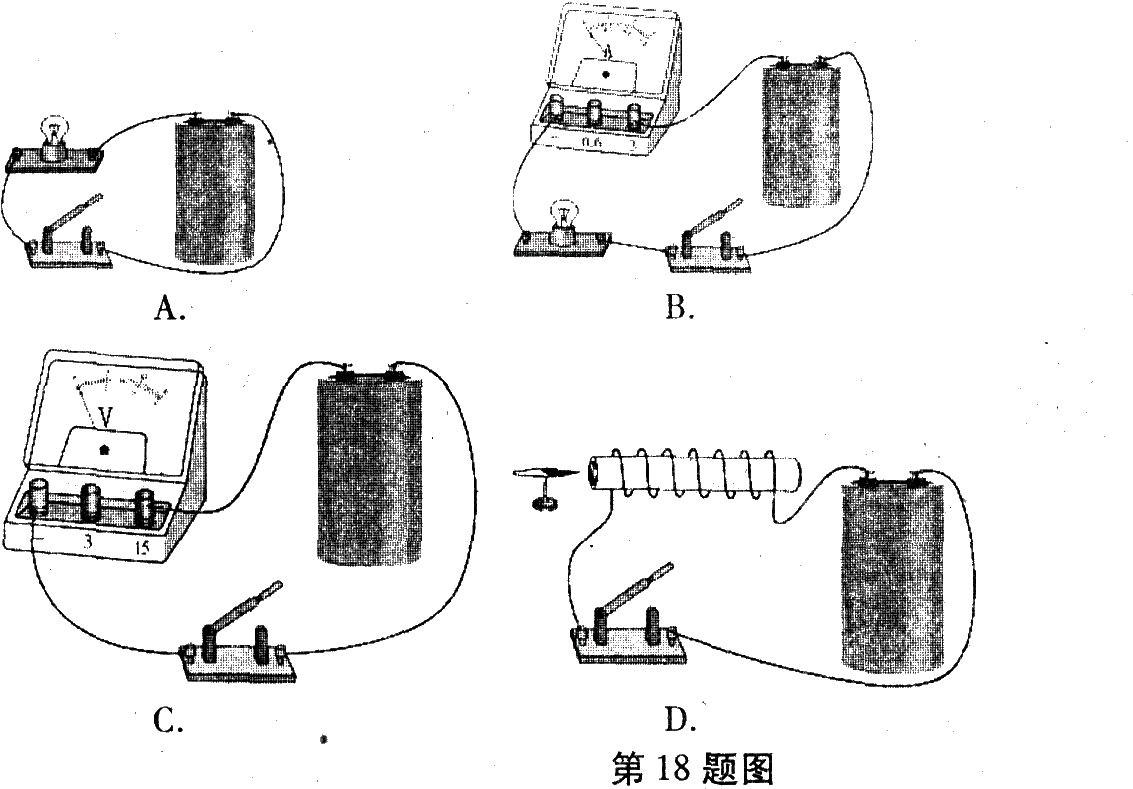 实验室有一种电池,林雨为辨认其正负极设计了几种方案.