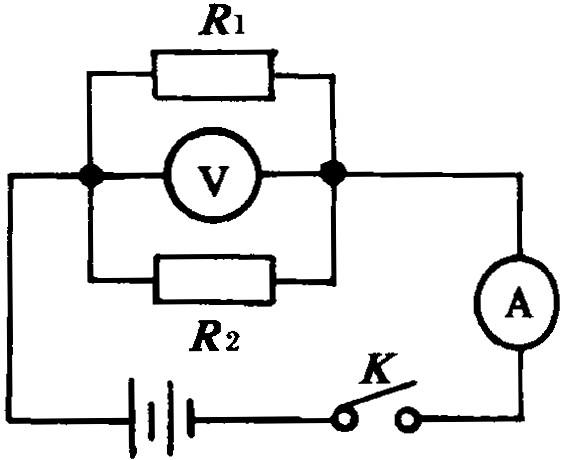 5a,若将与串联接入同一电路,通过的电流为0.6a,并联
