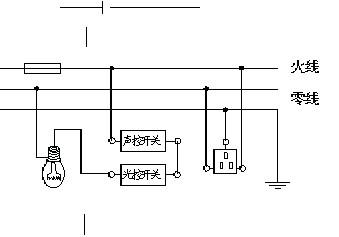 楼梯灯声控接线图