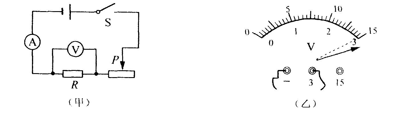 小明准备按图(甲)所示的电路图测量未知电阻的阻值.