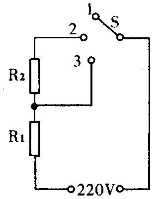图11是一个电热毯的简化电路图,电源电压为220v,r1是