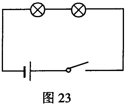 电路中不同位置的电流表的读数来研究串联电路的电流