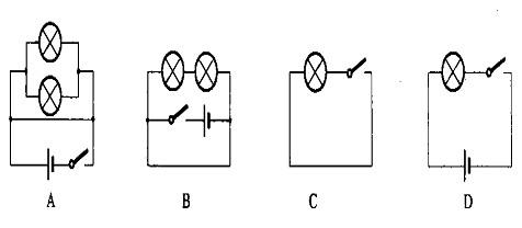 初中物理53串联和并联(选择题)1星