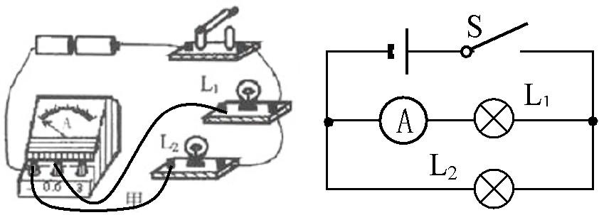 用笔画线表示导线,完成图甲中的电路连线