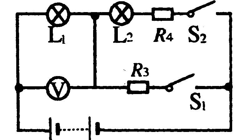 初中物理初中物理2009年中考电功率强化题练; 中考物理电路图_初中