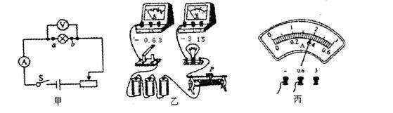 """图(甲)所示是""""测量小灯泡的电功率""""实验的电路图"""