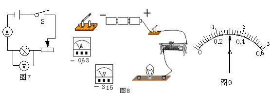 """在""""测定小灯泡的功率""""实验中,小明同学设计的电路如图"""