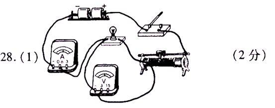如图17甲所示,是测定一个额定电压为2.5v小灯泡的额定功率电路图.