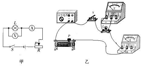 一只小灯泡做测量电功率的实验,小明同学设计了如图9甲所示的电路图.