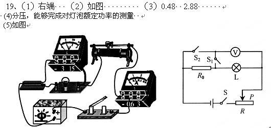 图是小明设计的测量一小灯泡额定功率的电路图.已知定