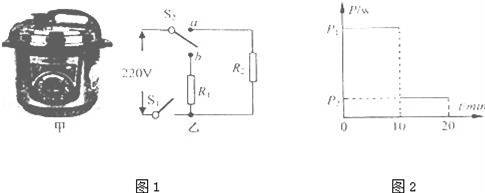 s 2自动与触点b断开并与触电a接通,s 1仍闭合,电压力锅处于保压状态